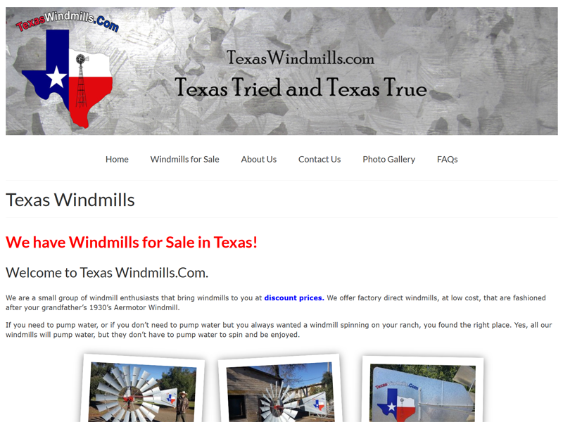 Windmills for Sale in Texas!